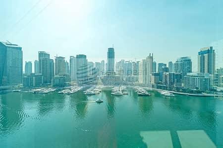 شقة 2 غرفة نوم للايجار في دبي مارينا، دبي - Full Marina View - 2 BR - Vacant - Mid Floor