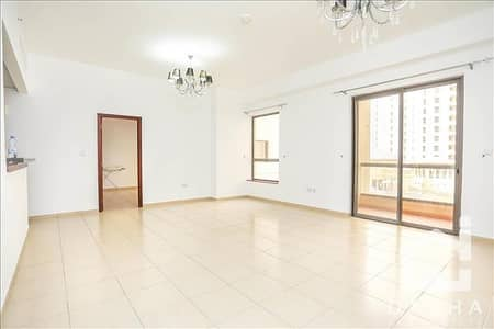 1 Bedroom Apartment for Rent in Jumeirah Beach Residence (JBR), Dubai - Unfurnished // Low floor // Pool View