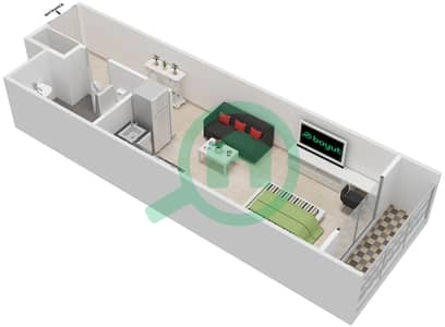 La Residence - Studio Apartment Unit 109-309 Floor plan