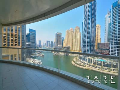 2 Bedroom Apartment for Rent in Dubai Marina, Dubai - Full Marina View I Huge Size 2 Bed I higher Floor