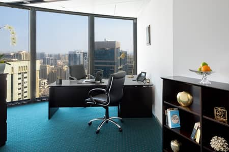 مکتب  للايجار في منطقة الكورنيش، أبوظبي - Upgrade Your Business  Rent a Premium Office in World Trade Center with Amazing Views!