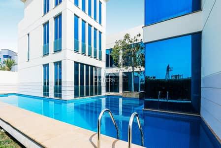 فیلا 4 غرفة نوم للايجار في بين الجسرين، أبوظبي - Swimming pool