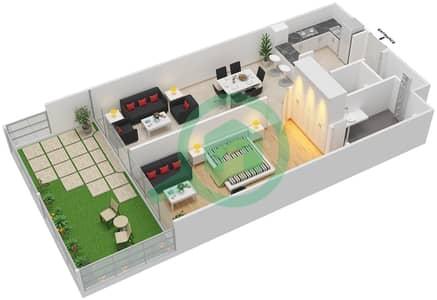 La Residence - 1 Bedroom Apartment Unit 1 Floor plan