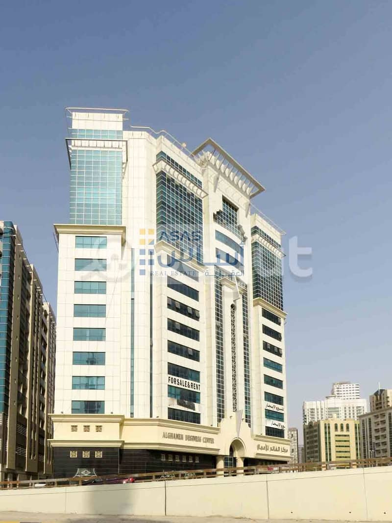 Offices available for rent in Ghanem Business Center Al khan