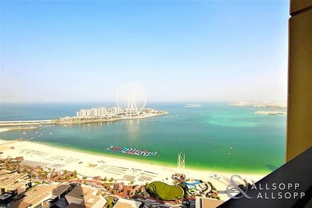 2 Bedroom Apartment for Sale in Jumeirah Beach Residence (JBR), Dubai - Sea View |  Unfurnished 2 Bed | High Floor