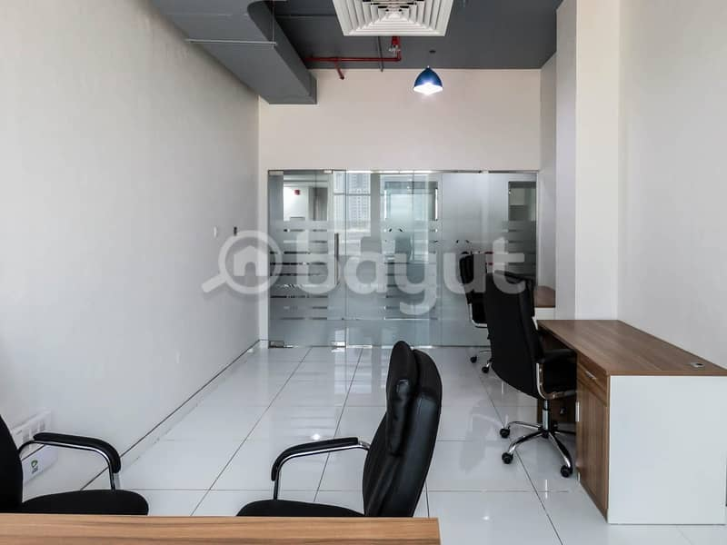 2 Fully Furnished Offices in Business Center for Rent in Business Bay