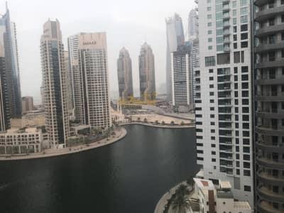 فلیٹ 1 غرفة نوم للبيع في دبي مارينا، دبي - Furnished 1BR with Full Marina View Vacant