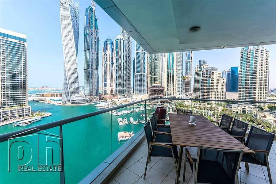 2 Stunning 3bedroom with stunning marina view