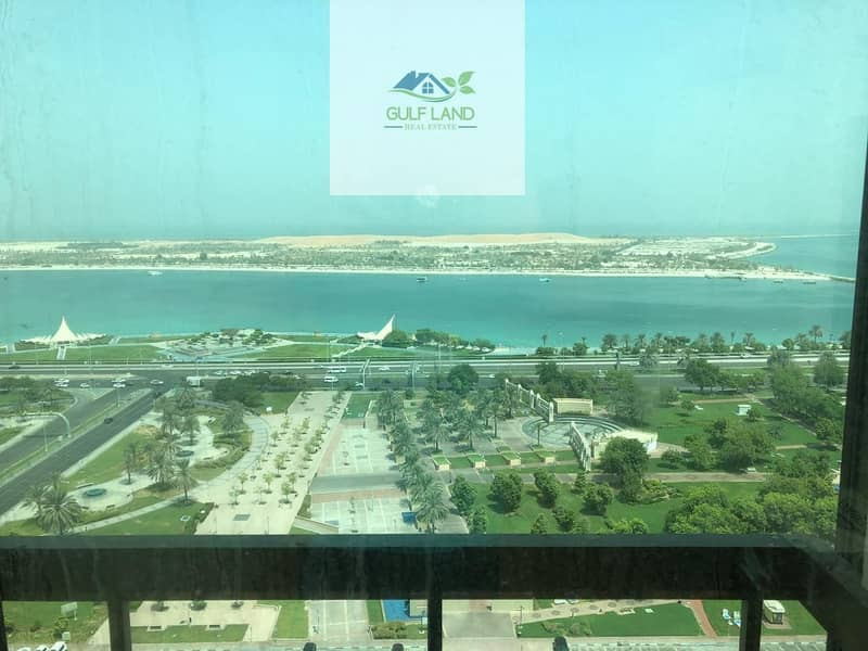 doublex sea view 3 bedrooms apartment in al corniche area for rent