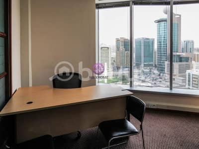 Office for Rent in Al Khalidiyah, Abu Dhabi - Vacant Now! Fully furnished offices with ADDC and Wifi Included