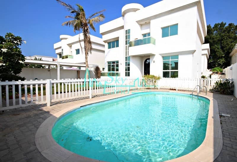 LOVELY 4BR+MAIDS INDEPENDENT VILLA WITH POOL AND GARDEN IN UMM SUQEIM