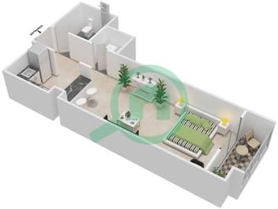 La Residence - Studio Apartment Unit 114-314 Floor plan