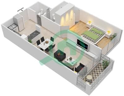 La Residence - 1 Bedroom Apartment Unit 101-301 Floor plan