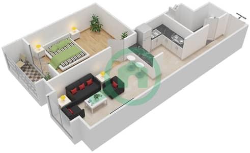 La Residence - 1 Bedroom Apartment Unit 113-313 Floor plan