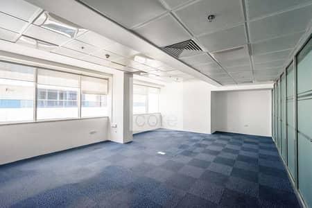 مکتب  للايجار في شارع الشيخ زايد، دبي - Vacant | Fitted Office | Mid Floor | DED