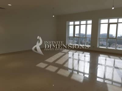 شقة 4 غرفة نوم للايجار في منطقة النادي السياحي، أبوظبي - Brand New 4 BR + MR in Mina Tower for Rent!