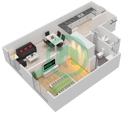 La Residence - 1 Bedroom Apartment Unit 6 Floor plan