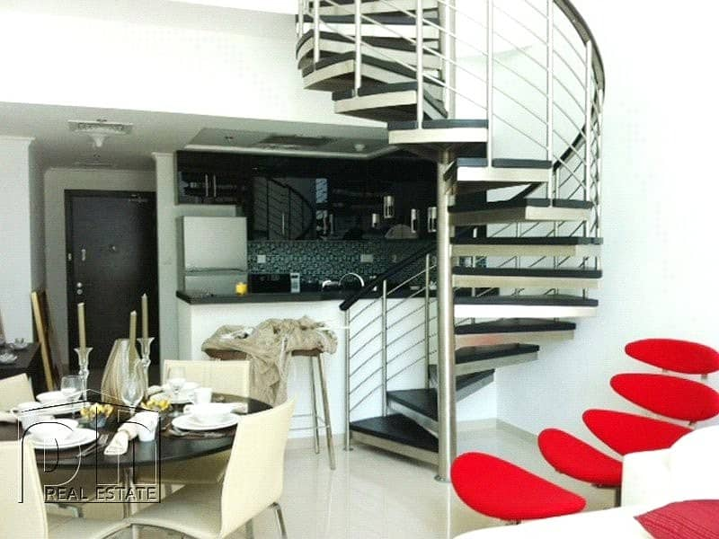 2 Nicely furnished 1BR Duplex Large terrace