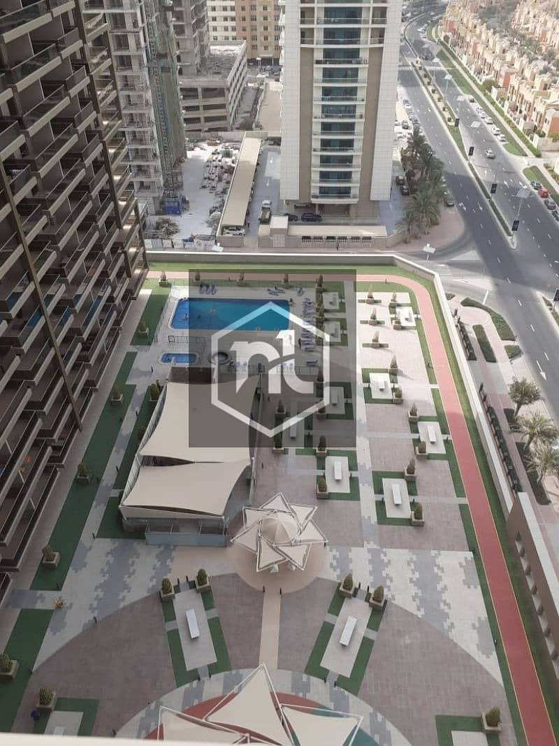 EXTRA LARGE STUDIO | FULLY FURNISHED | FULL GOLF COURSE AND POOL VIEW  | BALCONY AND PARKING | ELITE 10 | SPORTS CITY