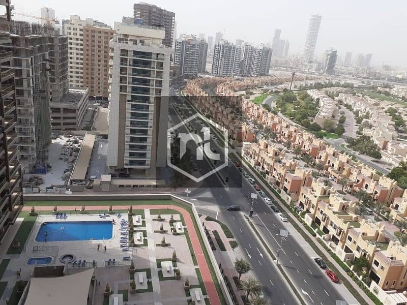 2 FULLY FURNISHED | FULL GOLF COURSE AND POOL VIEW | LARGE STUDIO | BALCONY AND PARKING | ELITE 10 | SPORTS CITY