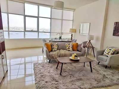 1 Bedroom Apartment for Sale in Al Bustan, Ajman - IDEAL LAYOUT 1BHK - LEASE TO OWN - 8 YEARS PAYMENT PLAN - FULL SEA VIEW