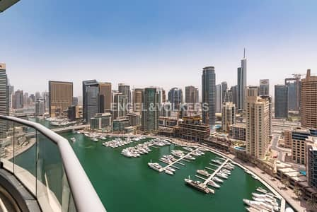 فلیٹ 2 غرفة نوم للايجار في دبي مارينا، دبي - Furnished   Full Marina View   With Parking