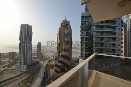 1 Bedroom Flat for Rent in Dubai Marina, Dubai - Panoramic view I Bright and Spacious I High floor