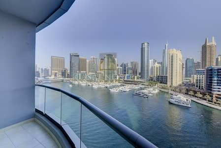 فلیٹ 1 غرفة نوم للايجار في دبي مارينا، دبي - Panoramic Full Marina view Furnished 1 Bedroom