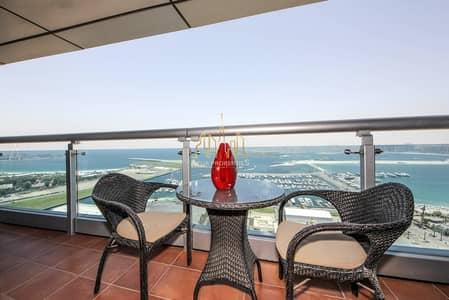شقة 2 غرفة نوم للايجار في دبي مارينا، دبي - Sea View   2 BR   High Floor   Princess Tower