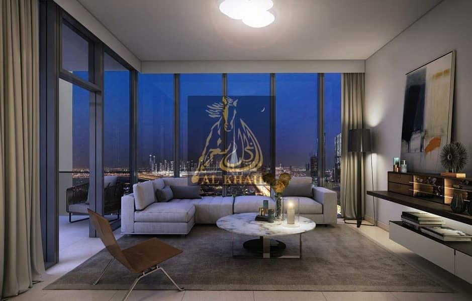10 Beautiful 1BR Apartment for sale in Downtown Dubai   3 Years Post handover   Dubai Fountain & Burj Khalifa Views