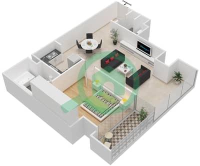 Maze Tower - 1 Bed Apartments unit 4 Floor plan