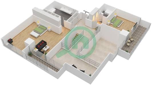 Maze Tower - 3 Beds Apartments unit 4 Floor plan