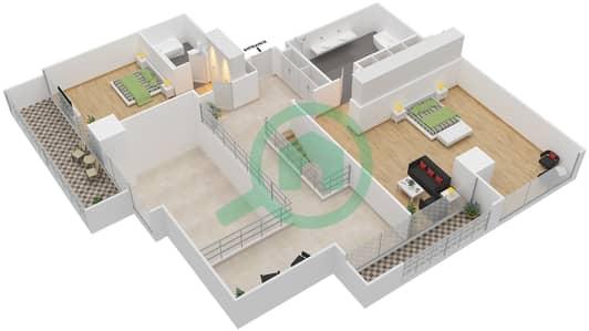 Maze Tower - 3 Beds Apartments unit 1 Floor plan