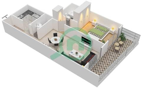 Lavender Tower - 1 Bedroom Apartment Unit 5 FLOOR 7-41 Floor plan