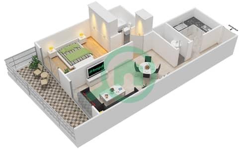 Lavender Tower - 1 Bedroom Apartment Unit 4 FLOOR 7-41 Floor plan