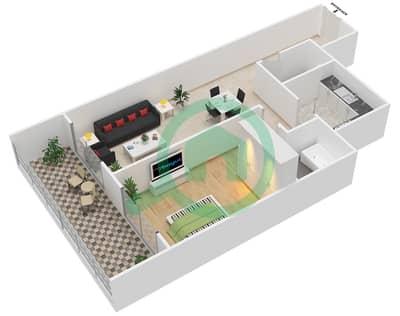 Lavender Tower - 1 Bedroom Apartment Unit 7 FLOOR 42-46 Floor plan