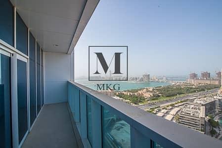 2 Bedroom Apartment for Rent in Dubai Marina, Dubai - High Floor | 2BR | Sea View | 2 Balconies