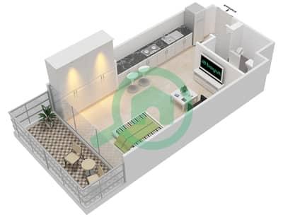 المخططات الطابقية لتصميم النموذج 2A شقة  - عزيزي جراند