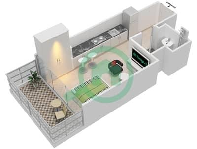 المخططات الطابقية لتصميم النموذج 1A شقة  - عزيزي جراند