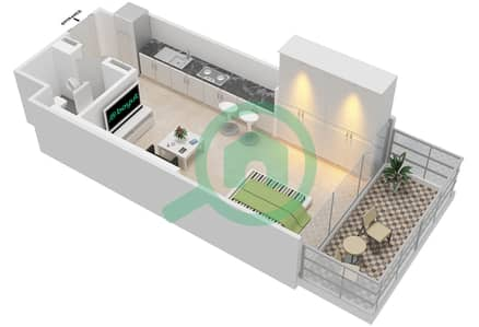 المخططات الطابقية لتصميم النموذج 3B شقة  - عزيزي جراند