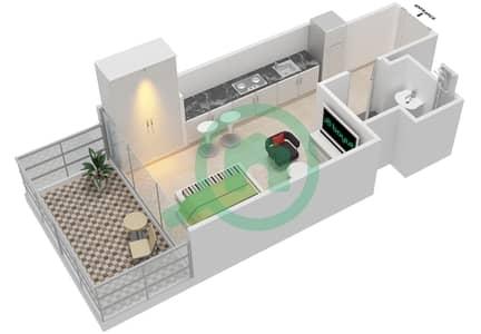 المخططات الطابقية لتصميم النموذج 1B شقة  - عزيزي جراند