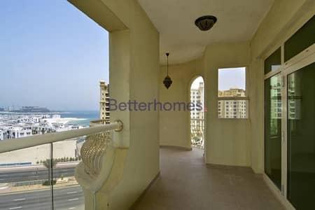 شقة 3 غرفة نوم للايجار في نخلة جميرا، دبي - Semi Furnished | Balcony | Al Tamr Type C