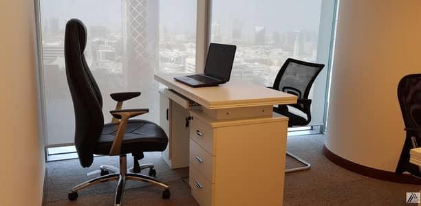 مکتب  للايجار في بر دبي، دبي - Independent Fully Furnished Serviced Office-Inside Linked with Mall and Metro