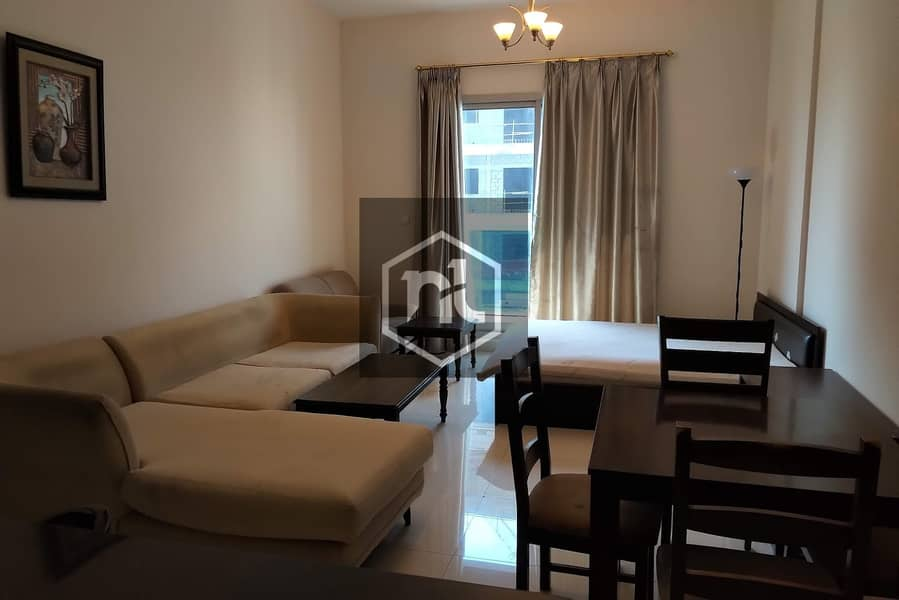 FULLY FURNISHED | 1 BED ROOM | BALCONY AND PARKING | ELITE 3 | SPORTS CITY