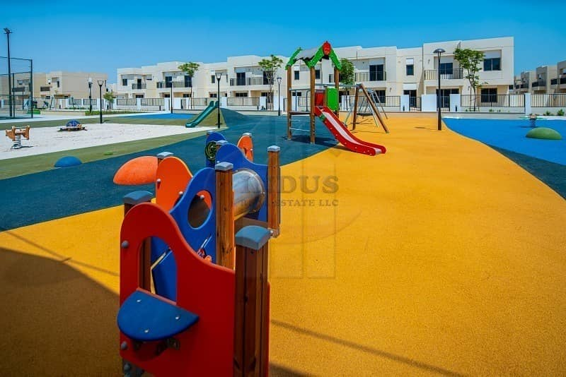 34 On Green Belt Type 10 3BR+M+S  Safi Townhouse|Opp Pool & Park