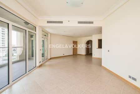فلیٹ 3 غرفة نوم للايجار في نخلة جميرا، دبي - High Floor | Type C | Partial Sea View