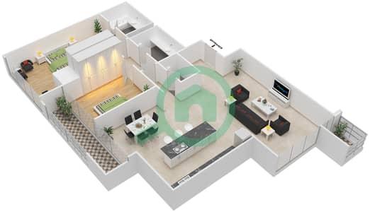 Maze Tower - 2 Beds Apartments unit 3 Floor plan