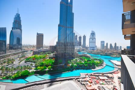 3 Bedroom Flat for Rent in Downtown Dubai, Dubai - Spectacular Full Burj & Fountain View|3BR|Tower B