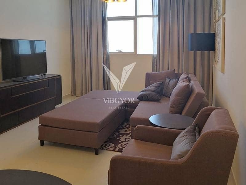 Ghalia at JVC- Furnished and Vacant 1BR- 4 Cheques