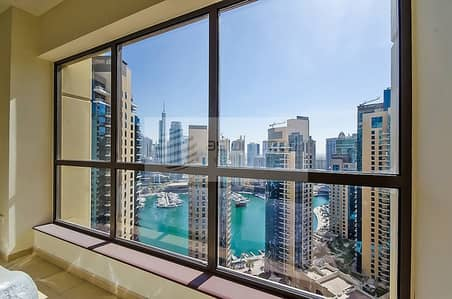 3 Bedroom Flat for Sale in Jumeirah Beach Residence (JBR), Dubai - Panoramic Marina View | 3BR+M in RIMAL 1